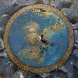 mandala cosmic blue